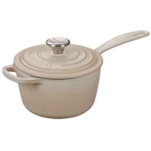 Le Creuset Enameled Cast Iron Signature Saucepan, 1.75 qt., Meringue