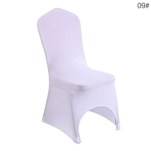 Emmala Hochzeit Bankett Weiche Strapazierfähige Stuhl Bezüge Weichem Elastic Stuhl Unikat Sitz Fall Stoff Beige Curved 7# (Color : Pure White+Curved, Size : Size)