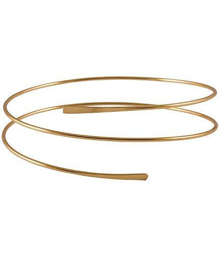 SIX Upperarm-Cuff in Spiralform [Damen Armreif aus Stahl] – Frauen Schmuck Goldfarbene Armspange - Armband - Manschette - Armspange - Stulpearmband – Accessoires (431-001)