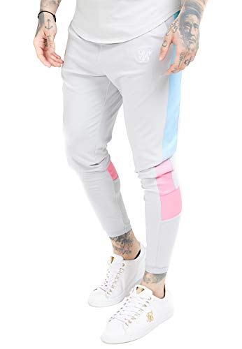 Sik Silk Pantalon Scope Fade Panel Track Gris