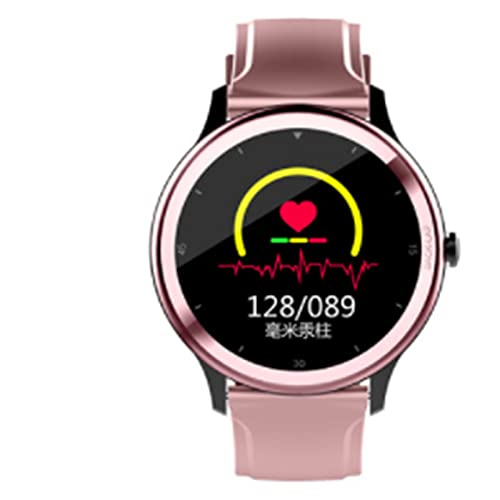 LOVOUO 1.28 full circle full touch sports smart watch (IP68 waterproof fitness tracking with heart rate SoP2 monitor sleep monitoring pedometer)
