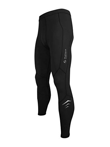 Men's Wetsuit Swimming Pants - Dive Skins Compression Swim Kayaking Paddling Surf Tights Leggings Pant UPF 50+ (Black, XL)