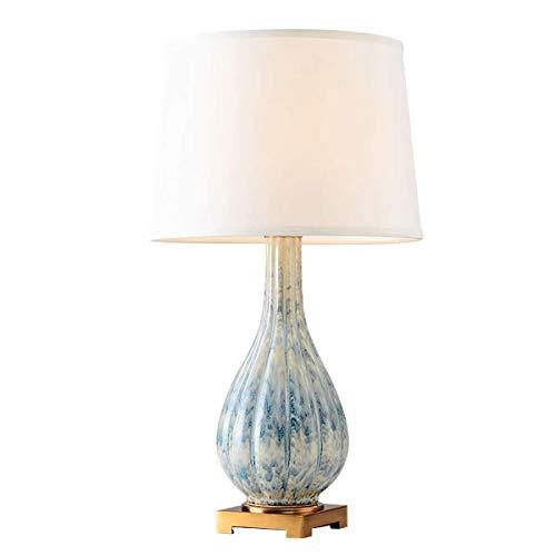 SLEVE Base de céramique Table de Chevet Lampe Set Tissu for Abat Chambre Chevet, Salon, Salle d'étude