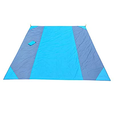 QUNANEN Large Printing Beach Blanket Sand Proof and Waterproof Combined - Sand Free Beach Mat Outdoor Picnic Blanket Rug Sandless Mattress Pad, Machine Washable, Polyester, 106'' x 83''