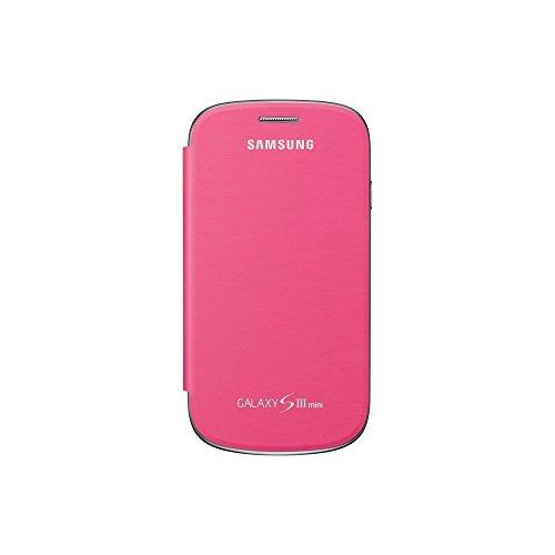 Samsung Original schützende Display-Klappe / Flip-Cover EFC-1M7FPEGSTD (kompatibel mit Galaxy S3 mini) in pink
