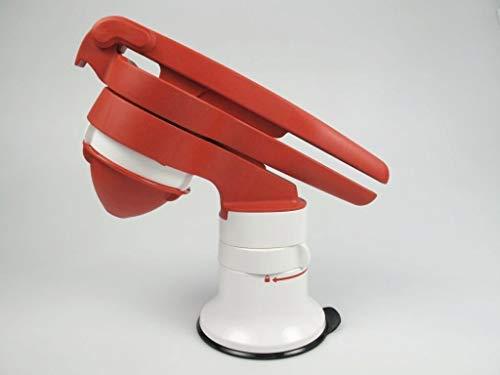 TUPPERWARE Chef Saftpresse rot-weiß  mit Standfuß Chef Saft Presse 9881
