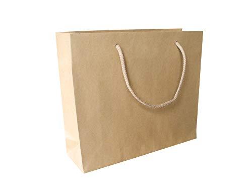 Carte Dozio - Shopper aus recyceltem Papier, Griff aus Baumwollseil, f.to 32+10x27+5, cf 25 Stück