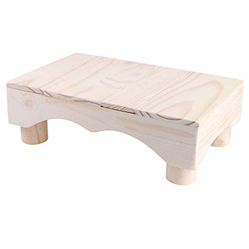 ZHHL Taburete De Madera para Niños Taburete para Inodoro Taburete para Piano Taburete para Piano Cocina Plástico Niños Cama para Niños Pequeños Taburete Plegable