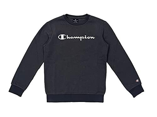 Champion Legacy Classic Logo Crewneck Sweater, Gris Charbon, 15-16 Ans Garçon