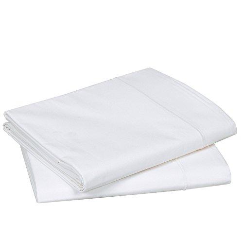 Blanc des Vosges Uni Percale Taie de traversin Coton Blanc 90 x 230 cm