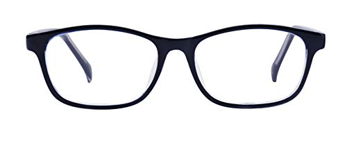ALWAYSUV Classic Clear Lenses Glasses Frame Eyewear For Kids/Teens (Black, Transparent)