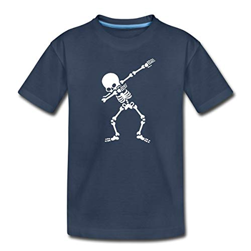 Dab Skelett Dabbing Gerippe Halloween Teenager Premium T-Shirt, 146-152, Navy