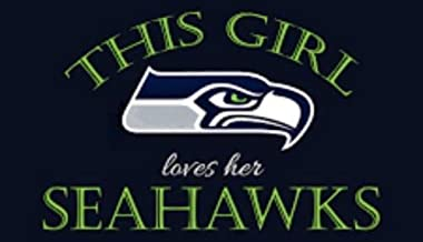 CA POWER Seattle Seahawks This Girl Loves Her Vynil Car Sticker Decal Rectangular 5 x 3.0 inch (2 Pieces)