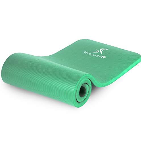 ProsourceFit - Alfombra Extra Gruesa para Yoga y Pilates, Verde, 2.5 cm grosor