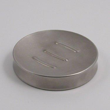 Metaltex Porta-Pastilla de jabón INOX, Acero Inoxidable, Plateado, 11.00x11.00x2.00 cm
