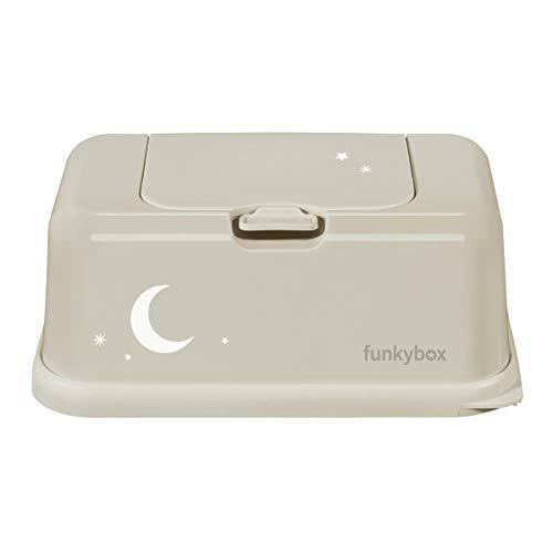 Funky Box Beige Luna - Estuches y dispensadores para toallitas, unisex