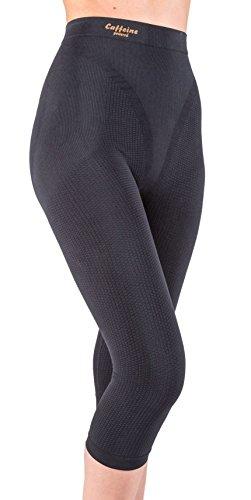 Pantaloncino Midi (Capri) Snellente, Anti-Cellulite con Caffeina+vitamina E Nero Tg. M