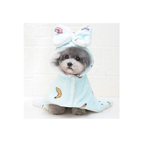 Dryup Cape Hundbademante mit Hut, Warme multifunktionale Hundedecke, Waschbar...