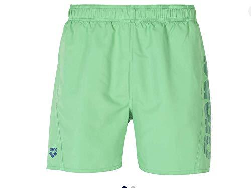 ARENA Jungen Badehose Boxer Fundamentals Logo Junior Badeshort, Golf Green-Royal-White, 152