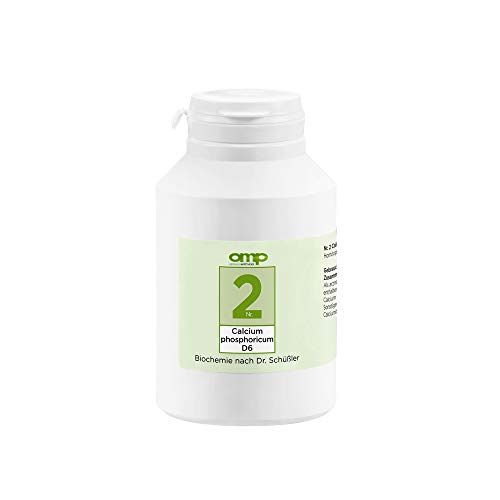 Schüssler Salz Nr. 2 Calcium phosphoricum D6 | 1000 Tabletten | Das Salz der Knochen und Zähne | glutenfrei