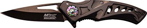 MTech USA Taschenmesser MT-A917 Serie, Messer DESIGNER LOCH OPTIK Griff, SCHWARZ Design, scharfes Jagdmesser, Outdoormesser 6,99 cm ROSTFREI Klinge, Klappmesser für  Angeln/ Jagd