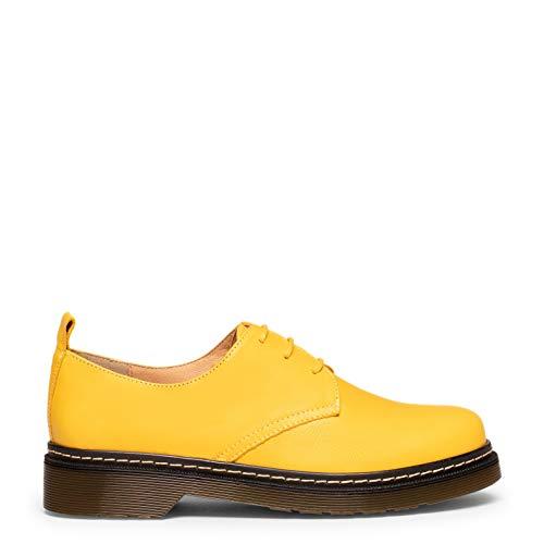INGLÉS – Zapato de Mujer con Cordones Amarillo