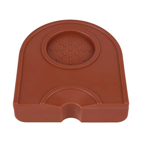 Coffee Tamper Matte siliconen koffie Tamp mat Tampering Corner mat anti-slip koffie Tamper houder siliconen pad mat (2 kleuren) bruin