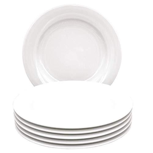 Kahla 57A383A90057C Pronto Porzellanteller Tellerset für 6 Personen 6-teilig Kuchenteller Dessertteller 20,5 cm rund weiß ohne Dekor kleine Snackteller