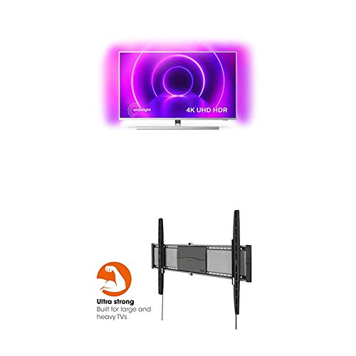 Philips Ambilight 50PUS8505/12 50-Zoll LED TV (4K UHD, HDR 10+, Android TV) + Vogel's EFW 8305 Ultrastarke TV-Wandhalterung (40-80 Zoll, VESA max. 800 x 450)