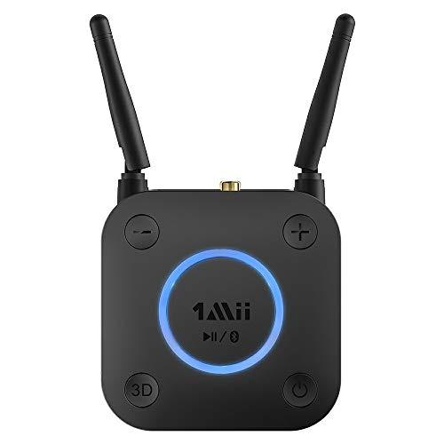 1Mii Aux Bluetooth Adapter, aptX Low Latency Bluetooth empfänger Audio, Bluetooth 5.0 Receiver mit Optical RCA AUX 3.5mm Koaxial für Home Stereoanlage (B0301-A)