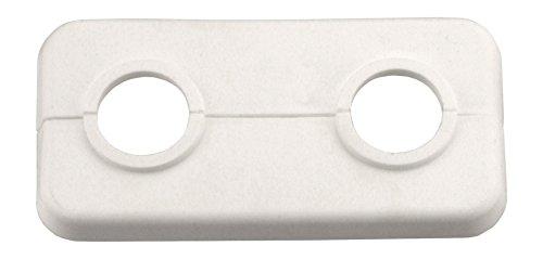 Cornat Doppel-Klapprosette, 18 mm, weiß, 2 Stück, T384001