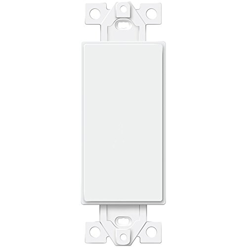 ENERLITES Blank Adapter Insert for Decorator Wall Plates, Unbreakable Polycarbonate Thermoplastic, UL Listed, 6001-W, White