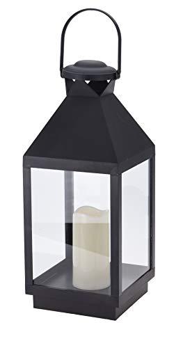 Lantaarn met LED-kaars timer realistisch vlammeneffect vlammeneffect