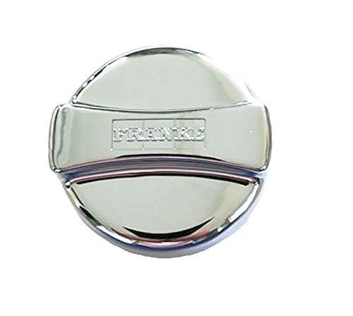 Franke Drehexcenter-Kappe - rund 44 mm x 30 mm hoch - Kunststoff in Chrom-Optik - Drehknopf Ersatzteil für Küchenspülen mit Excenterventil