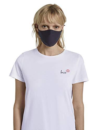 TOM TAILOR Unisex Stoffmaske wiederverwendbar, Black Iris Blue, Einheitsgröße