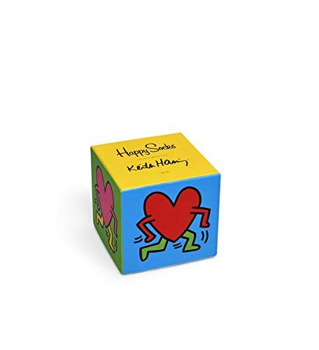 Happy Socks Herren Keith Haring Box Set Socken, Rot (Rot 4000), One Size (Herstellergröße: 41-46) (3er Pack)