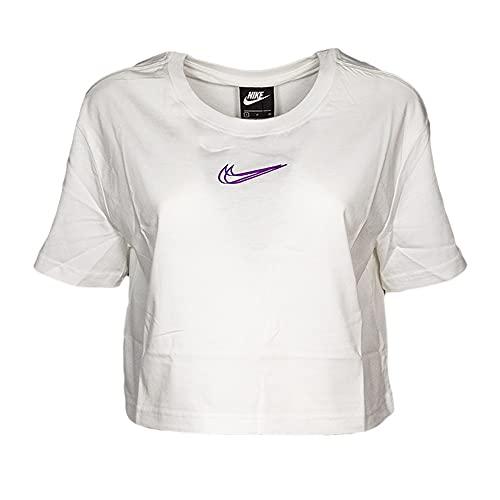 Nike Camiseta de mujer White DJ4125 100, Mujer, blanco, XS-XL