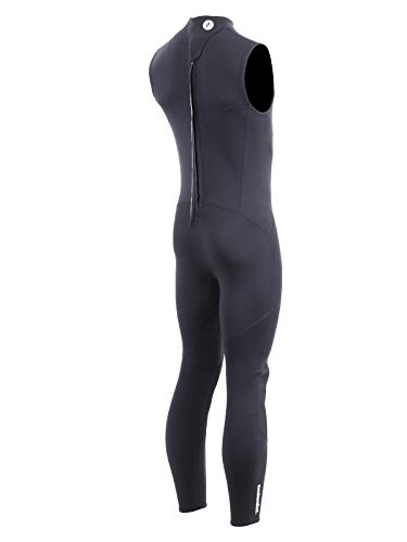 Two Bare Feet Mens Thunderclap 2.5mm Sleeveless Neoprene Wetsuit for Swimming/Surfing/Watersports (XX-Large, Black)