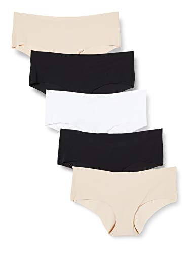 Amazon-Marke: Iris & Lilly Damen Slip, 5er-Pack, Schwarz/Blassnude/Weiß, XXL, Label: XXL
