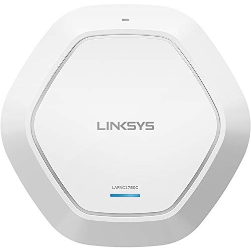 Linksys Business AC1750 Wifi Cloud Managed Access Point with Remote Centralized Management & Real-time Insights on Network Activity, 802.11ac, PoE (LAPAC1750C),White