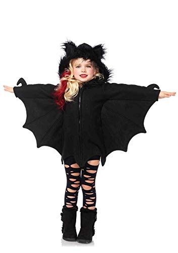 Leg Avenue- Kids Cozy Bat Costumes, C4910001001, Noir, Small (110-116)