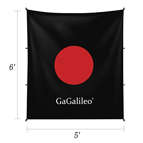 GALILEO Golf Cage Hitting Net Double Backstop with Target Training Aids Automatic Ball Return Net for Backyard 10x10x10FT