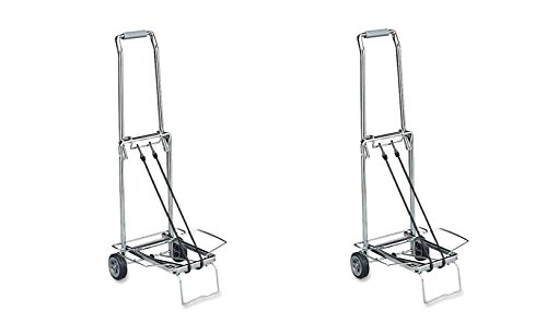Sparco Compact Luggage Cart, 150 lbs., Capacity, Open 14-3/4 x 13-3/4 x 35 Inches, CE (SPR01753) (Pack of 2)