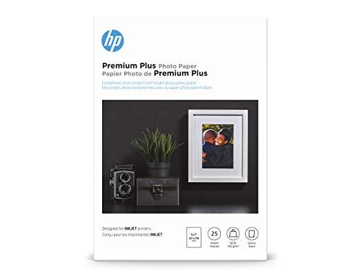 HP Premium Plus Photo Paper | Glossy | 5x7 | 25 Sheets (4WN04A)
