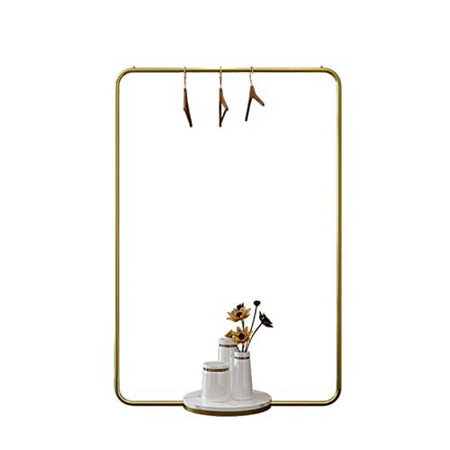 Juan Nórdico Moderno Perchero Base De Metal Dorado Y Mármol Perchero Varilla Individual De Gran Capacidad De Pie Estante De Exhibición De Los Paños para La Venta (Size:80x40x150CM,Color:Oro + Blanco)