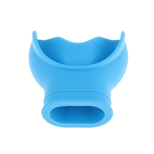 freneci Boquilla de Snorkel de Buceo de Silicona Suave con Regulador de Buceo de 5,1x5 Cm - Azul
