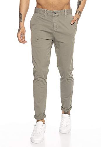 Redbridge Pantalone Uomo Elegante Sportivo Casual Chino Cotone Verde W36L32