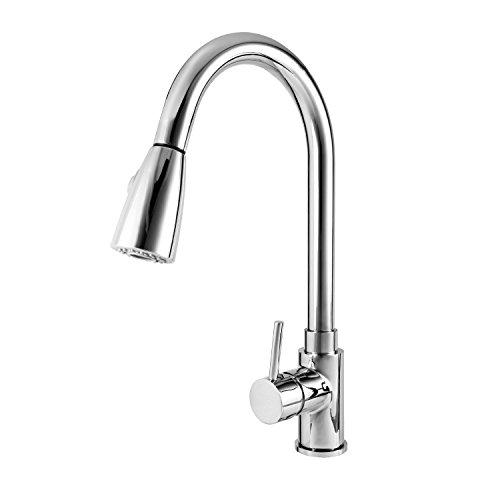Wasserhahn ICOCO 360°Schwenkbereich Einhebel Wasserhahn Küchenarmatur Einhandmischer Spüle Küche mit herausziehbarem Brausekopf Armatur - 4