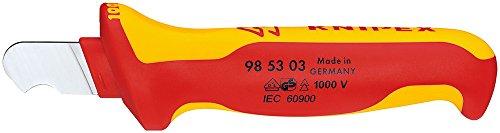 KNIPEX 98 53 03 Abmantelungsmesser für Rundkabel 170 mm