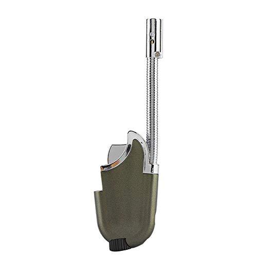 Flexibler Hals Nachfüllbares Butan-Flammen-Feuerzeug-Zündwerkzeug für BBQ-Camping im Freien(Gold)